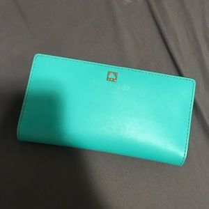 Tiffany Blue and Navy Kate Spade Wallet